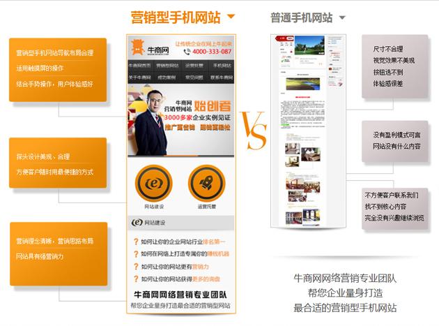 深圳牛商网手机网站建站 轻松帮您赚钱